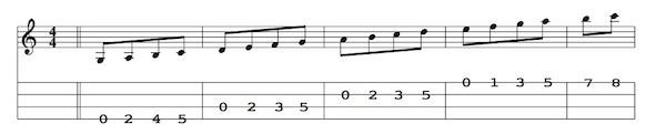 Notes on the Mandolin Fretboard