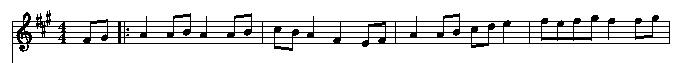 musical score example